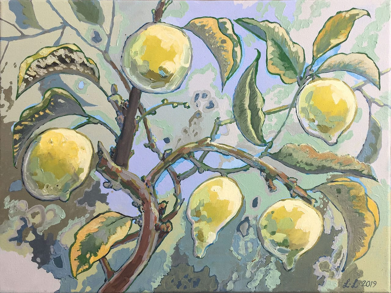 Lemon Tree, oil on canvas, 12x16inches