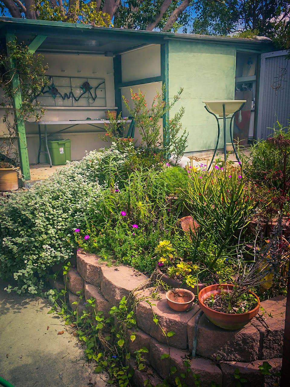 My studio in my sister's garden in Solana Beach.
