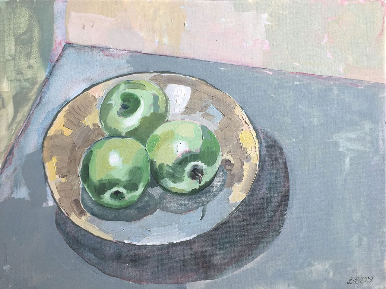 Still Life with Apples, oil on canvas, 12x16inches