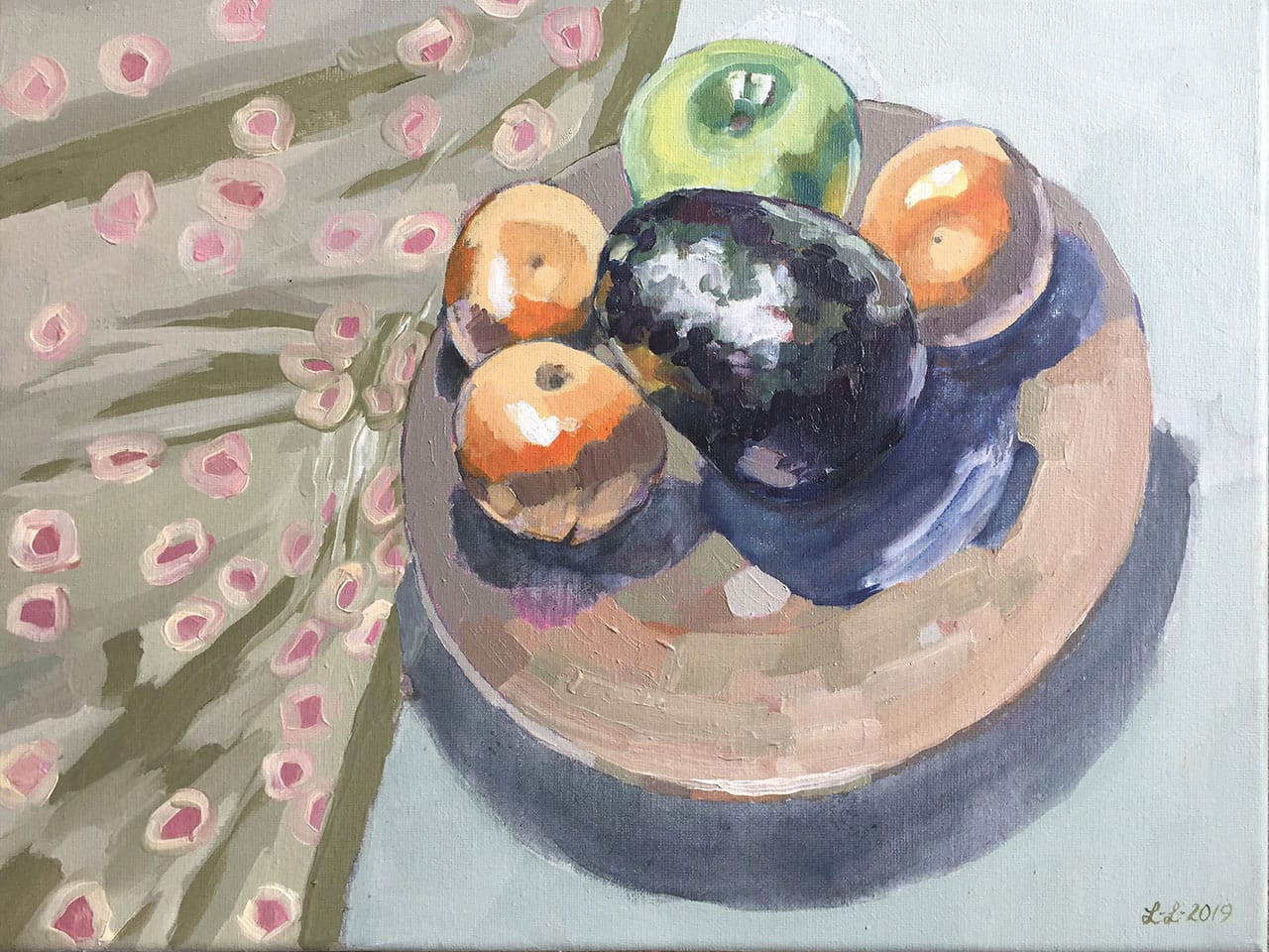 Still Life with Avocado, oil on canvas, 12x16inches