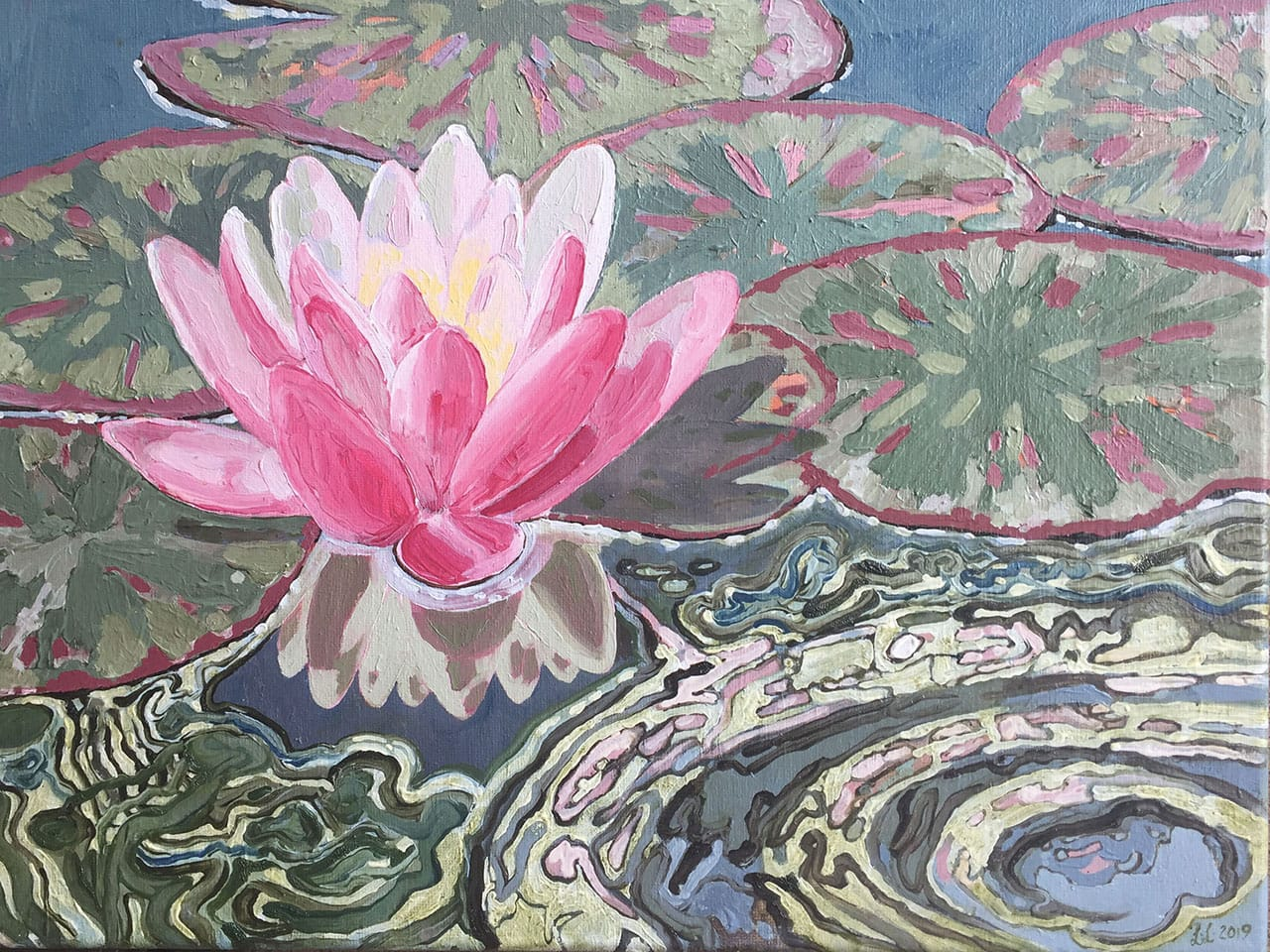 Water Lily, oil on canvas, 12x16inches